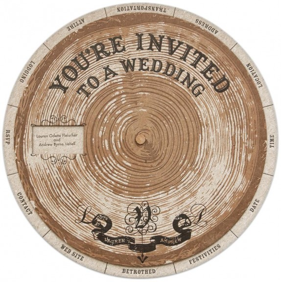 DIY Do: Tree Ring Wedding Wheel Invitation Templates