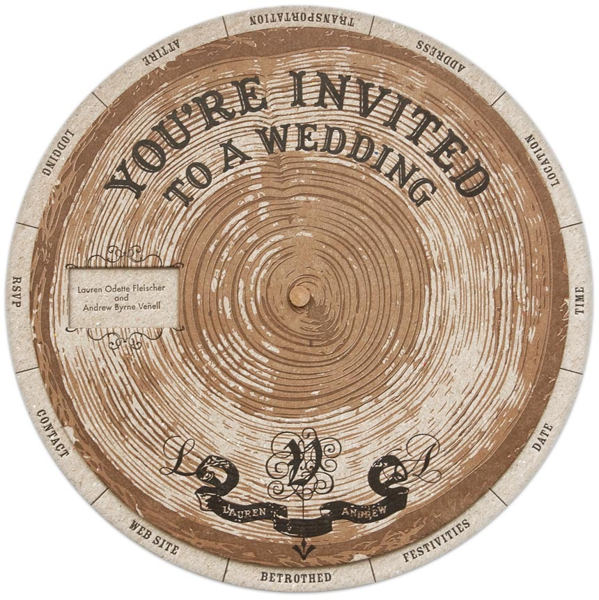 DIY Do Tree Ring Wedding Wheel Invitation Templates